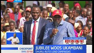 Jubilee Campaigns : William Ruto leads Jubilee brigade in Machakos