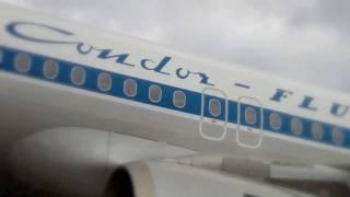 preview picture of video 'Condor tauft Jubiläums-Flieger Hans'