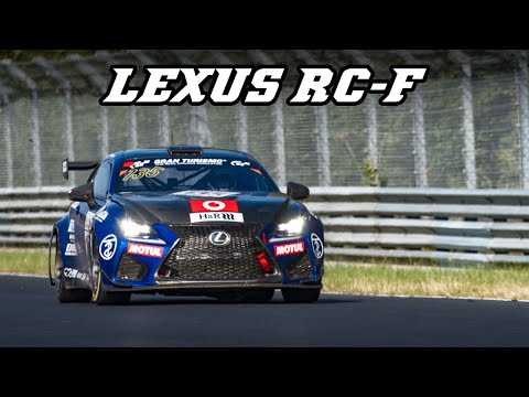 LEXUS RC-F racecar with Loud intake sound (VLN 2019)