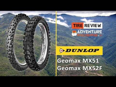 TIRE REVIEW – Dunlop Geomax MX52 and MX51 Offroad Motocross Enduro Dirtbike Tires