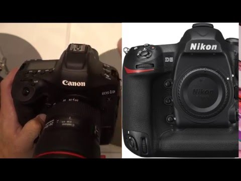 Canon 1Dxii Hands On Overview - VS Nikon D5 + D4