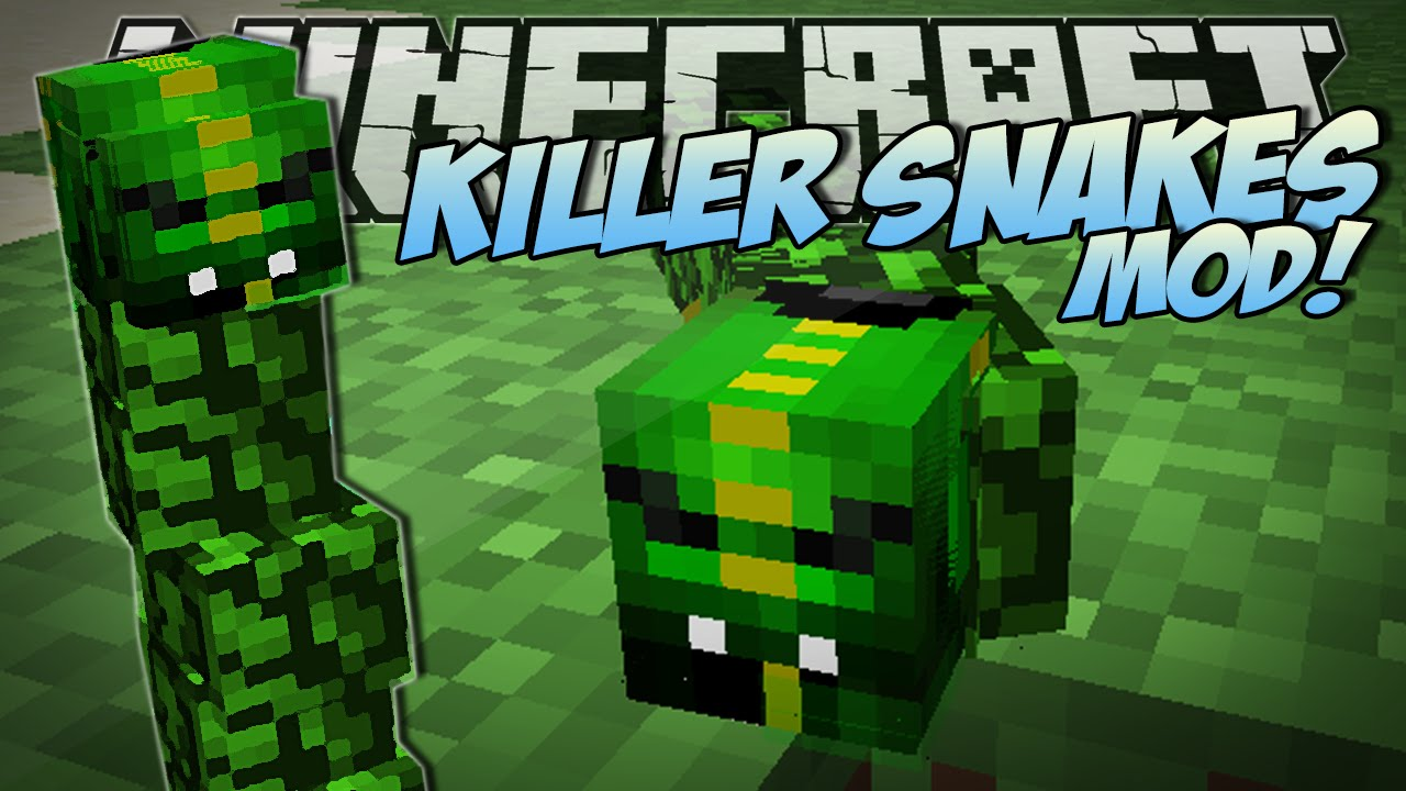 Minecraft | KILLER SNAKES MOD (Become a Snake Charmer!) | Mod