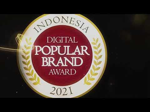 Virtual Award Ceremony Indonesia Digital Popular Brand Award 2021