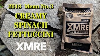 MRE Review: 2018 XMRE Creamy Spinach Fettuccini (Outdoor Review With Mrs. gschultz9 and Chickens!)