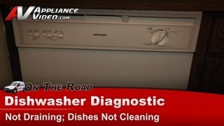 HotPoint, General Electric ( GE ) & RCA dishwasher Not Draining, Dishes Not Cleaning - HDA3400G02CC