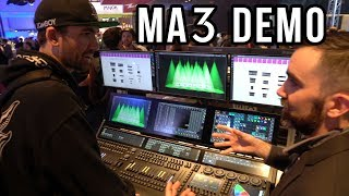 Full-length hands-on MA3 Demo with Will Murphy of ACT Lighting