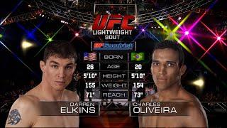 UFC Debut: Charles Oliveira vs Darren Elkins | Free Fight