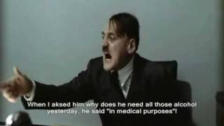 Hitler is informed there is no more drinks