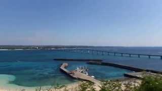 沖縄県宮古島来間島高台穴場スポット青い海