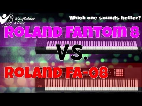 Roland Fantom 8 vs Roland FA-08: ZEN-Core vs SuperNATURAL Flagship Sound Comparison!!