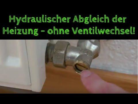 """Hydraulischer Abgleich """"light"""" der Heizung /Heizkörper Durchflussmenge einstellen-ohne Ventilwechsel"""