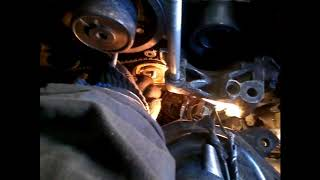 замена помпы на двигателе L7X с указанием меток ГРМ + кат№