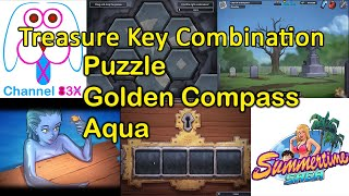 Summertime Saga Golden Compass | Treasure Key Combination | Puzzle | Aqua | Complete Walkthrough