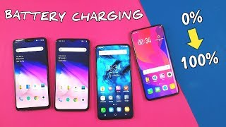 One Plus 6T | One Plus 6 | Vivo Nex | Oppo Find X Battery CHARGING TEST | TechTag