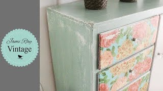 How To Decoupage | Farmhouse Napkin Dresser