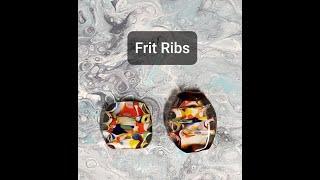Lampwork Glass Beads:  FRIT Ribs