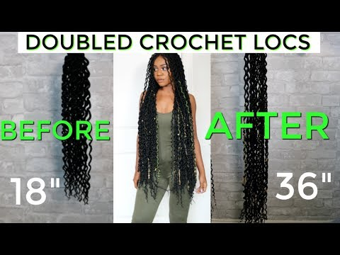 DIY Customized Faux Locs | DOUBLE The Length Of Your Crochet Locs | Ft Shopbeautydepot