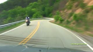 Tail Of The Dragon - Like 195 MPH - Time Lapse Hi Def - 318 Curves 7 Cops 11 Miles - Gatlinburg
