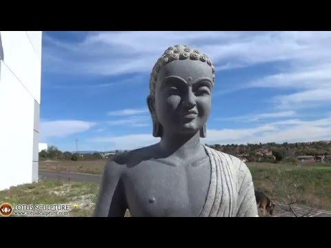 SOLD Granite Meditating Buddha Garden Statue 43