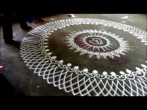 sanskar bharti rangoli design for festival by kshama bade