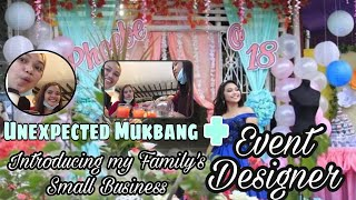 UNPLANNED MUKBANG + INTRODUCING SMALL BUSINESS - EVENT STYLING