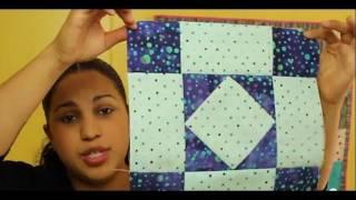 How To Make An Amish Diamond Quilt Block- Block #2 Of 12- Video Quilt Along