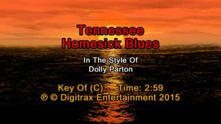 Dolly Parton - Tennessee Homesick Blues (Backing Track)