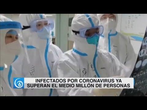 Infectados por Coronavirus superan el medio millón de personas