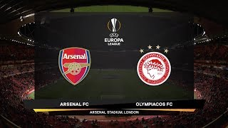 Highlights from the UEFA Europa League match between Arsenal and Olympiacos Piraeus at the Emirates Stadium in London