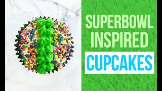 How To Make Simple Football Themed Cupcakes  | Superbowl Party Food Ideas