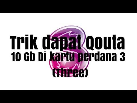 Video Cara Mendapatkan Qouta 10Gb Gratis Di Kartu 3 (Three)