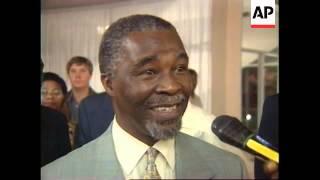GABON: SOUTH AFRICA'S DEPUTY PRESIDENT THABO MBEKI VISIT