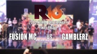FUSION MC v GAMBLERZ / Bboy Crew Final / R16 2014 Korea / Allthatbreak.com