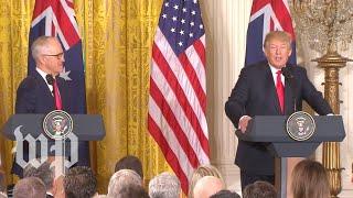 Trump lauds Australia