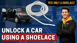 Unlock a Car with SHOELACE - (no keys)