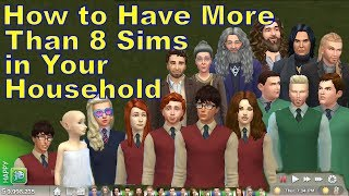 How to Have More Than 8 Sims in Your Household