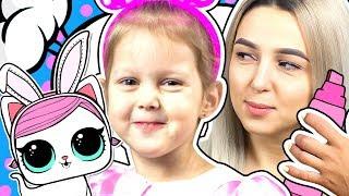 LOL Раскрашиваем куклу ЛОЛ 3 маркера Питомец Минни Маус с нюхом на сюрпризы ЛОЛ Видео для детей