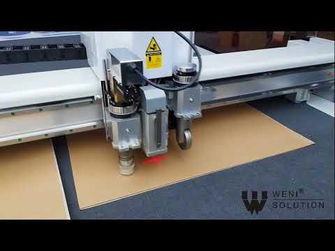 Weni WB03II wycinanie kartonu | Weni WB03II cutting cardboard - zdjęcie
