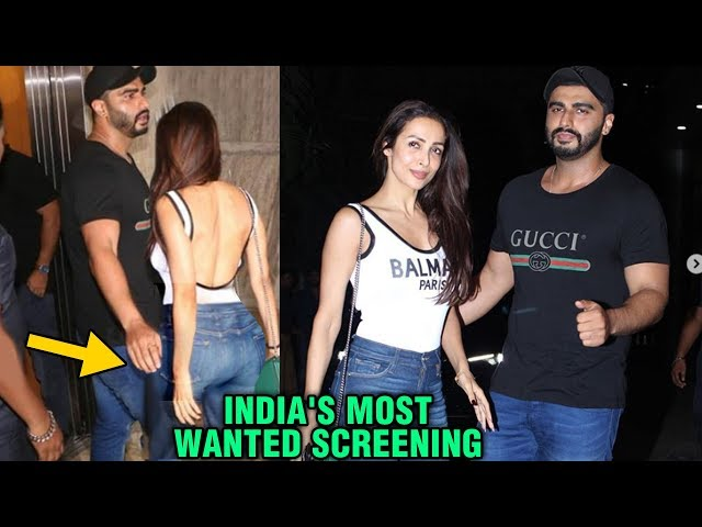 Arjun Kapoor Malaika Arora FIRST TIME Openly Pose For Media | India's Most Wanted Screening