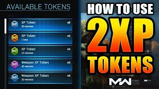 How to Use DOUBLE XP Tokens in Modern Warfare Multiplayer! [COD MW]