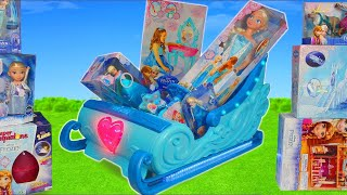 Frozen Toy Dolls: Elsa & Princess Anna Dollhouse, Carriage & Doll Play | Surprise Toys for Kids