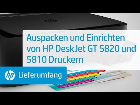 Auspacken und Einrichten von HP DeskJet GT 5820 und 5810 Druckern