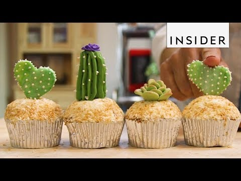 Delicious Cactus Cupcakes and Mouthwatering Succulent's