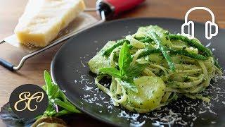 Pesto Genovese Recipe   4K ASMR Cooking sounds