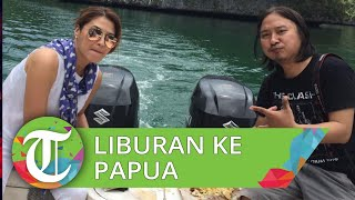 Tamara Bleszynski Nikmati Liburan di Atas Perahu di Papua