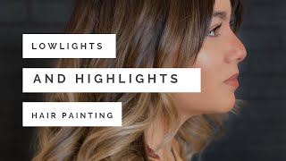 A Lowlight And Highlight Hair Painting Method