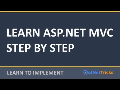 ASP.NET MVC Tutorial for Beginners | Learn ASP.NET MVC5 Step ...