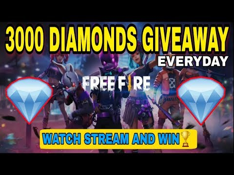 [ 3000 DIAMONDS GIVEAWAY ] WATCH AND EARN || Free Fire Live With 70+ Level Heroic Global Players