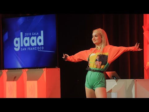 Pop sensation Kim Petras performs at the 2018 GLAAD Gala San Francisco