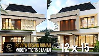 Video Desain Rumah Modern 3 Lantai Ibu Melani di  Ciracas, Jakarta Timur
